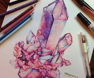 drawing, art, and pink image