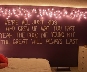 quote, room, and lights image