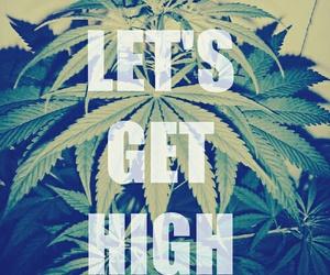 weed, high, and smoke image