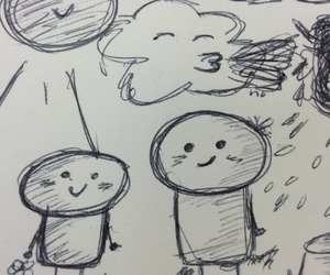 doodle, cute, and off image