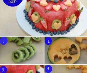 cake, fruit, and fresh image