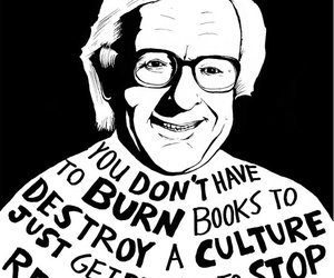 book, quotes, and Ray Bradbury image