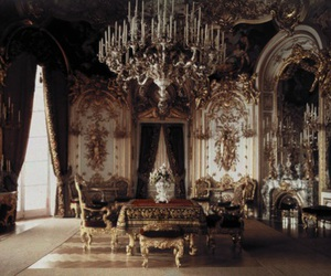 room, chandelier, and castle image