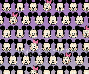 mickey mouse, minnie mouse, and pink image