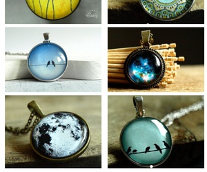 blue, green, and necklace image