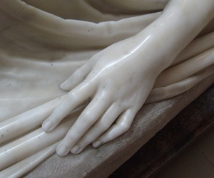 hands, marble, and sculpture image