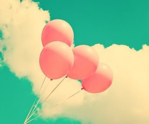 balloons, sky, and pink image