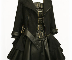 black, buckles, and dress image
