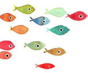 fish, cute, and drawing image