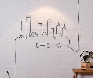 city, light, and art image