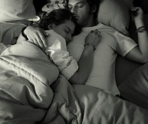 bed, couples, and Relationship image