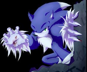 sonic, wolf, and Sonic the hedgehog image