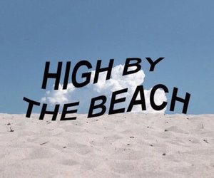lana del rey, beach, and high by the beach image