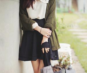 fashion, black, and green image