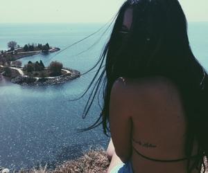 beach, bikini, and sunglasses image