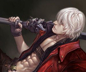 Dante, devil may cry, and anime image