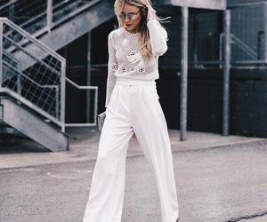 fashion, street style, and white image