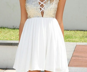 dress, model, and outfit image