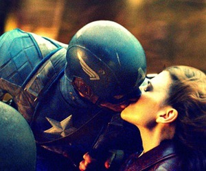 captain america, kiss, and hayley atwell image