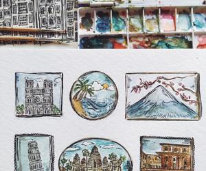 art, journal, and paris image
