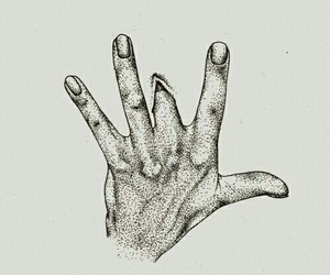 art, fingers, and hand image