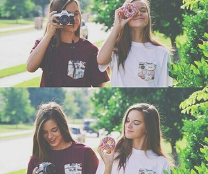 friends, donuts, and girl image
