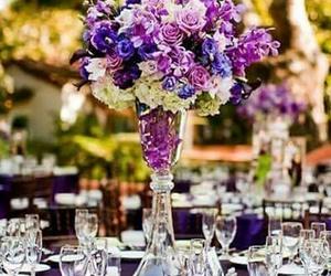 flowers, purple, and decoracion image