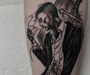 black, guy, and ink image