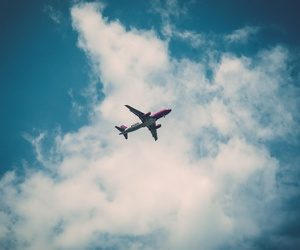 airplane and clouds image