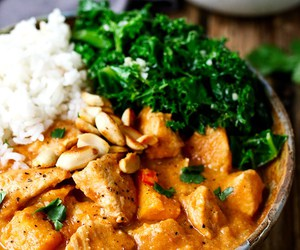 African, peanut butter, and Chicken image