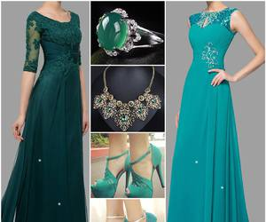 fashion, necklace, and party dress image