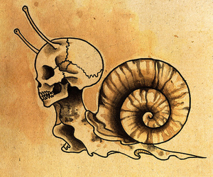 old school, snail, and tattoo image