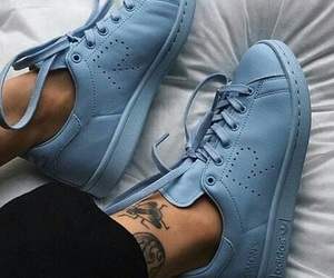 shoes, adidas, and blue image