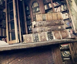 books, old, and library image