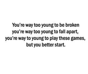 broken, text, and young image