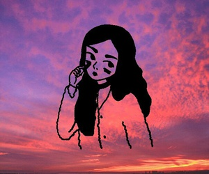 girl, art, and sky image