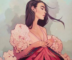 art, draw, and illustration image