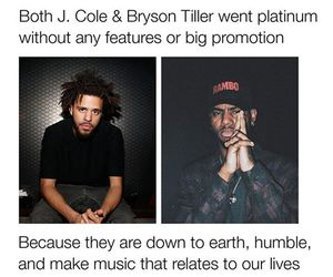 j cole and bryson+tiller image