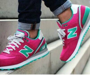 pink, new balance, and cool image