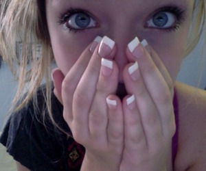 girl, nails, and pale image