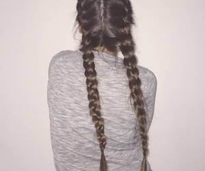 braids, cheveux, and hair style image