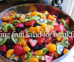 fruit, breakfast, and fruit salad image