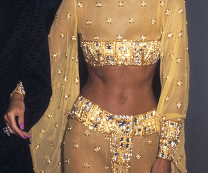 fashion, body, and gold image