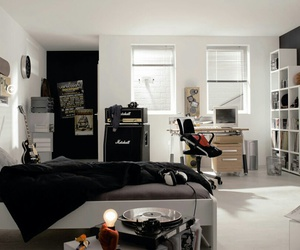 room, bedroom, and black image