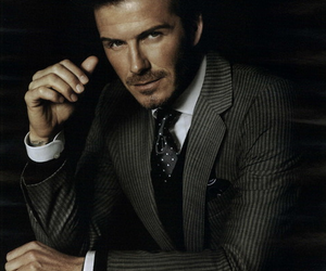 David Beckham and suit image