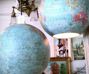 globe, diy, and lamp image
