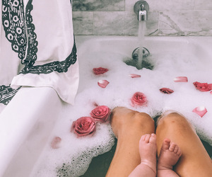 bath, legs, and city image