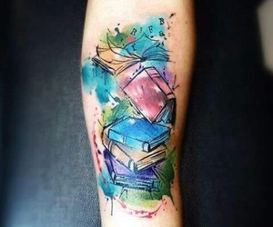 book, tattoo, and arm image