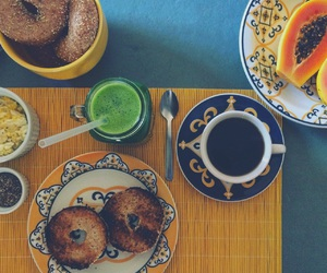 bagel, breakfast, and coffe image