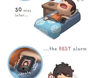 love, alarm, and couple image